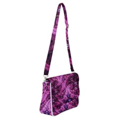 Fractal Art Digital Art Shoulder Bag With Back Zipper