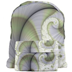 Graphic Fractal Eddy Curlicue Leaf Giant Full Print Backpack