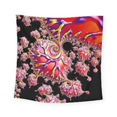 Fractals Colorful Pattern Square Tapestry (small) by Pakrebo