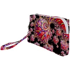 Fractals Colorful Pattern Wristlet Pouch Bag (small)