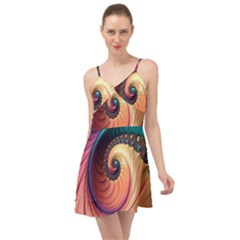Fractal Multi Colored Fantasia Summer Time Chiffon Dress