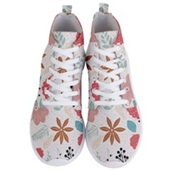 Nature Shape Leaves Flowers Art Men s Lightweight High Top Sneakers by Pakrebo