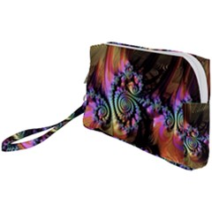 Fractal Colorful Background Wristlet Pouch Bag (small)