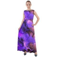 Fractal Flower Chiffon Mesh Maxi Dress