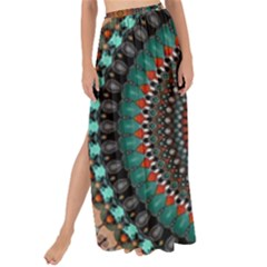 Ornament Circle Picture Colorful Maxi Chiffon Tie Up Sarong