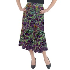 Background Design Art Artwork Midi Mermaid Skirt
