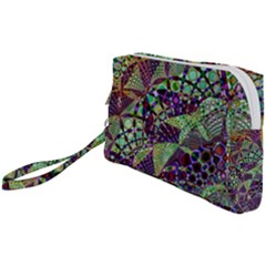 Background Design Art Artwork Wristlet Pouch Bag (small)