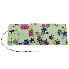 Flowers Ornament Decoration Roll Up Canvas Pencil Holder (s) by Pakrebo