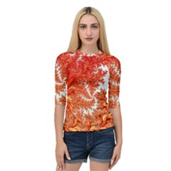 Flora Flowers Background Leaf Quarter Sleeve Raglan Tee