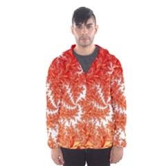Flora Flowers Background Leaf Men s Hooded Windbreaker