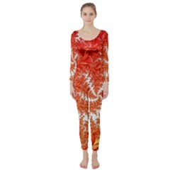 Flora Flowers Background Leaf Long Sleeve Catsuit