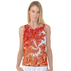 Flora Flowers Background Leaf Women s Basketball Tank Top