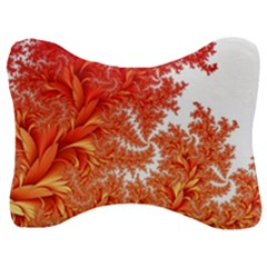 Flora Flowers Background Leaf Velour Seat Head Rest Cushion