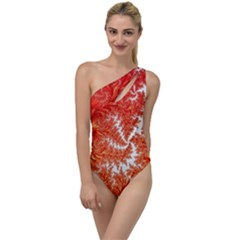 Flora Flowers Background Leaf To One Side Swimsuit
