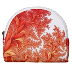 Flora Flowers Background Leaf Horseshoe Style Canvas Pouch