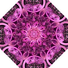 Fractal Math Geometry Visualization Pink Folding Umbrellas