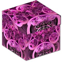 Fractal Math Geometry Visualization Pink Storage Stool 12