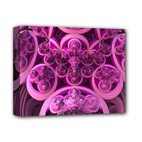 Fractal Math Geometry Visualization Pink Deluxe Canvas 14  X 11  (stretched)