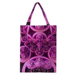 Fractal Math Geometry Visualization Pink Classic Tote Bag