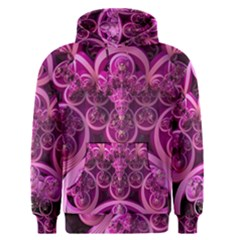 Fractal Math Geometry Visualization Pink Men s Pullover Hoodie