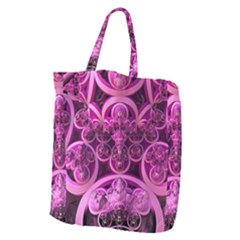 Fractal Math Geometry Visualization Pink Giant Grocery Tote