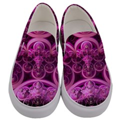 Fractal Math Geometry Visualization Pink Men s Canvas Slip Ons
