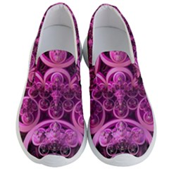 Fractal Math Geometry Visualization Pink Men s Lightweight Slip Ons