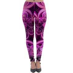 Fractal Math Geometry Visualization Pink Lightweight Velour Leggings