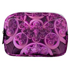 Fractal Math Geometry Visualization Pink Make Up Pouch (small)