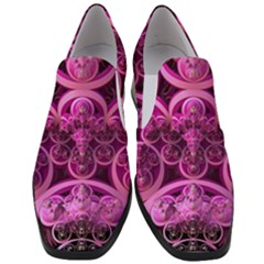 Fractal Math Geometry Visualization Pink Women Slip On Heel Loafers