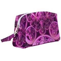 Fractal Math Geometry Visualization Pink Wristlet Pouch Bag (large)