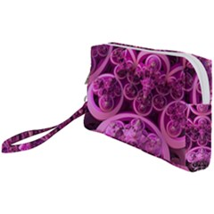 Fractal Math Geometry Visualization Pink Wristlet Pouch Bag (small)