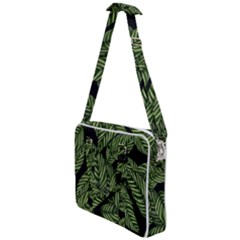 Leaves Pattern Tropical Green Cross Body Office Bag