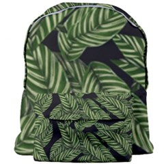 Leaves Pattern Tropical Green Giant Full Print Backpack