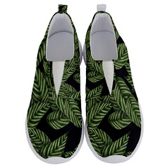 Leaves Pattern Tropical Green No Lace Lightweight Shoes