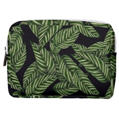 Leaves Pattern Tropical Green Make Up Pouch (medium)