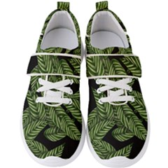 Leaves Pattern Tropical Green Men s Velcro Strap Shoes
