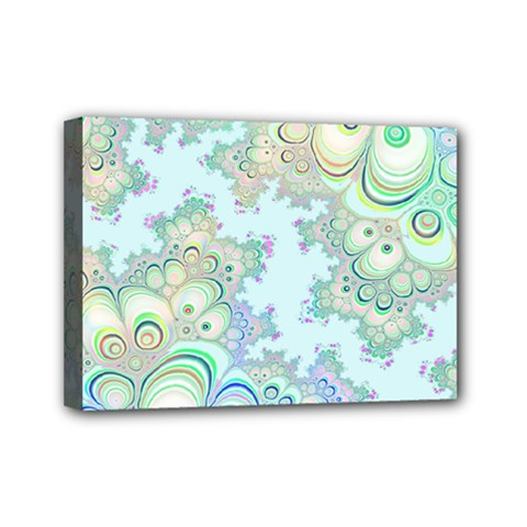 Pattern Background Floral Fractal Mini Canvas 7  X 5  (stretched)
