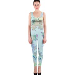 Pattern Background Floral Fractal One Piece Catsuit