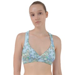 Pattern Background Floral Fractal Sweetheart Sports Bra