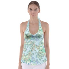 Pattern Background Floral Fractal Babydoll Tankini Top