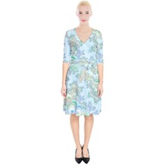 Pattern Background Floral Fractal Wrap Up Cocktail Dress