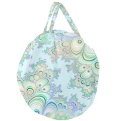 Pattern Background Floral Fractal Giant Round Zipper Tote