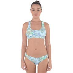 Pattern Background Floral Fractal Cross Back Hipster Bikini Set