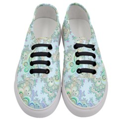 Pattern Background Floral Fractal Women s Classic Low Top Sneakers