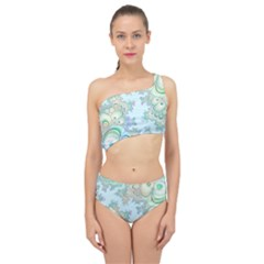 Pattern Background Floral Fractal Spliced Up Two Piece Swimsuit