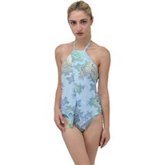 Pattern Background Floral Fractal Go With The Flow One Piece Swimsuit