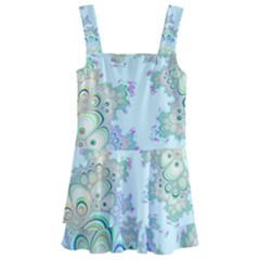 Pattern Background Floral Fractal Kids  Layered Skirt Swimsuit
