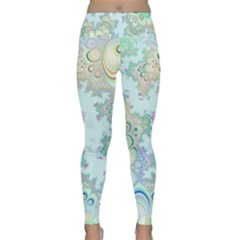 Pattern Background Floral Fractal Lightweight Velour Classic Yoga Leggings