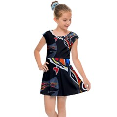 Design 3 Kids  Cap Sleeve Dress by TajahOlsonDesigns